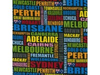Australian City Names - Black